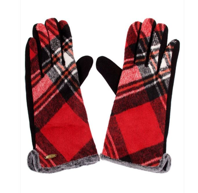 CC Plaid Gloves with Smart Tips