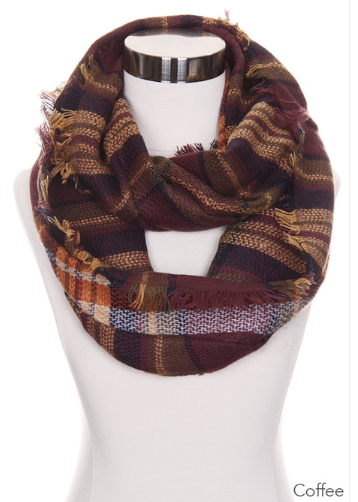 Infinity Scarf - Checker Plaid