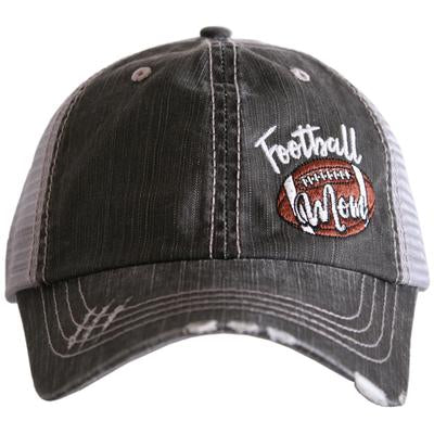 Football Mom Distressed Trucker Hat