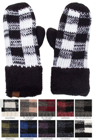CC Buffalo Check Mittens