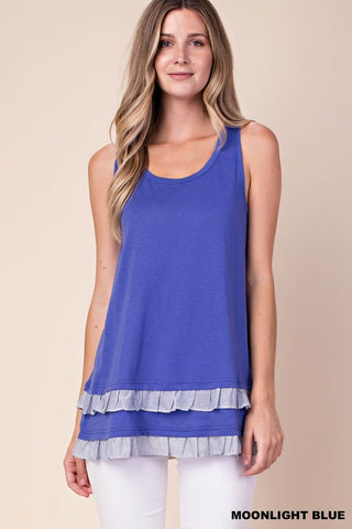 Moonlight Striped Detail Hemline Top