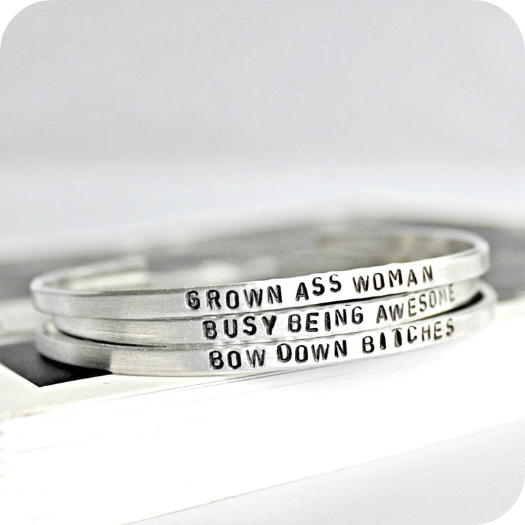 Grown Ass Woman Funny Bracelet Set