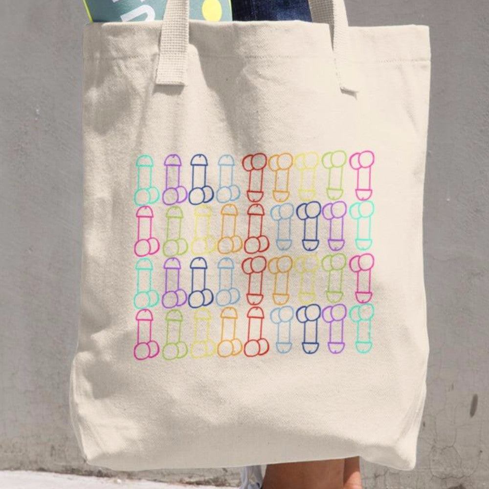 Bag of Dicks Funny Tote Rainbow Penis Naughty Adult Humor