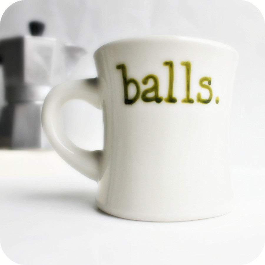 Funny Coffee Mug Balls Unique Personalized Gift
