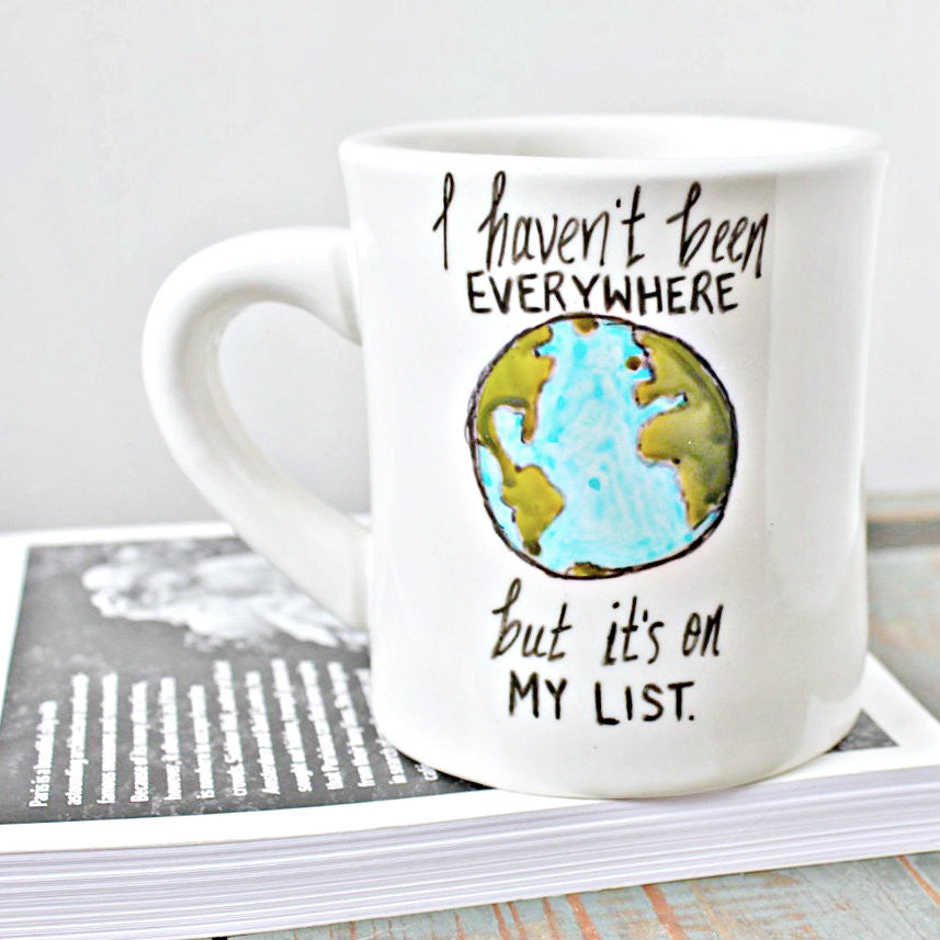 Hand Painted Funny Coffee Mug Sontag Travel Lover