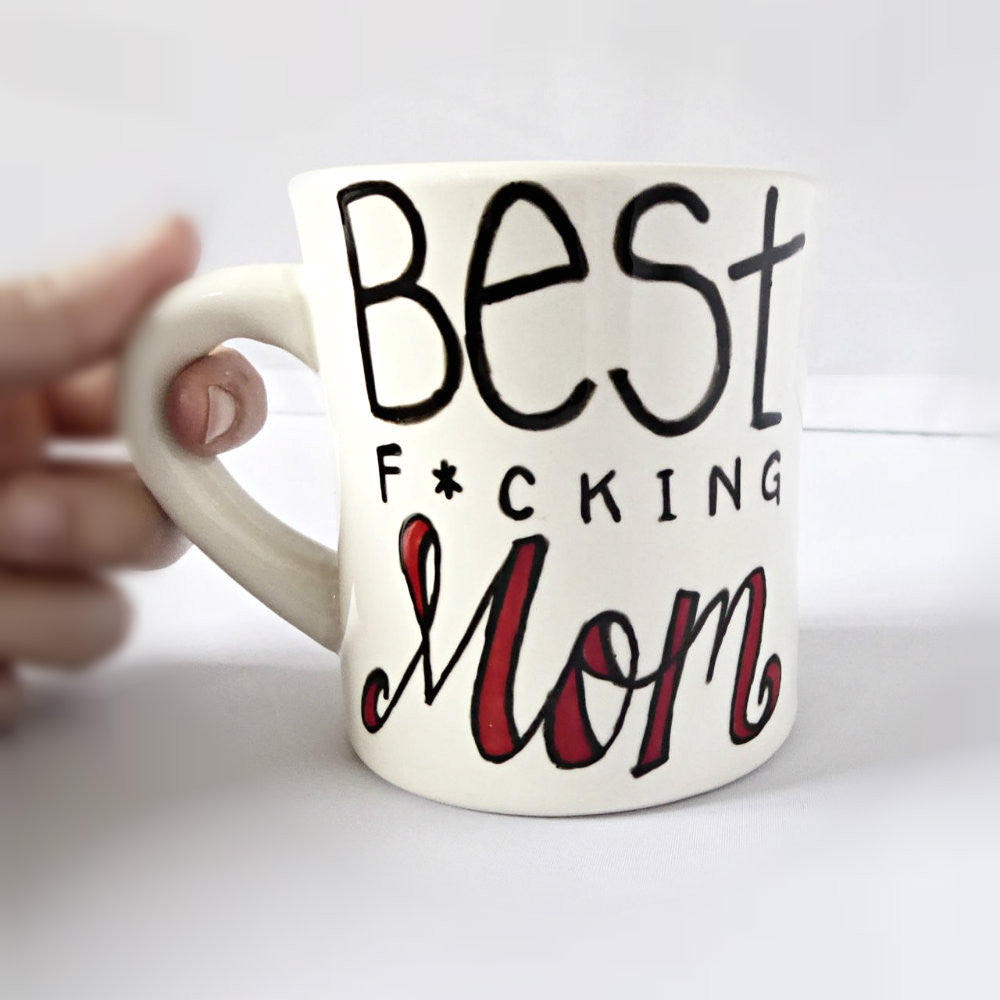 Best Mom Hand Painted Coffee Mug Gift for Her