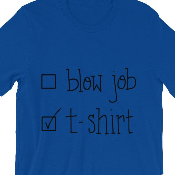 Funny Mens T-Shirt Blow Job Raunchy Naughty