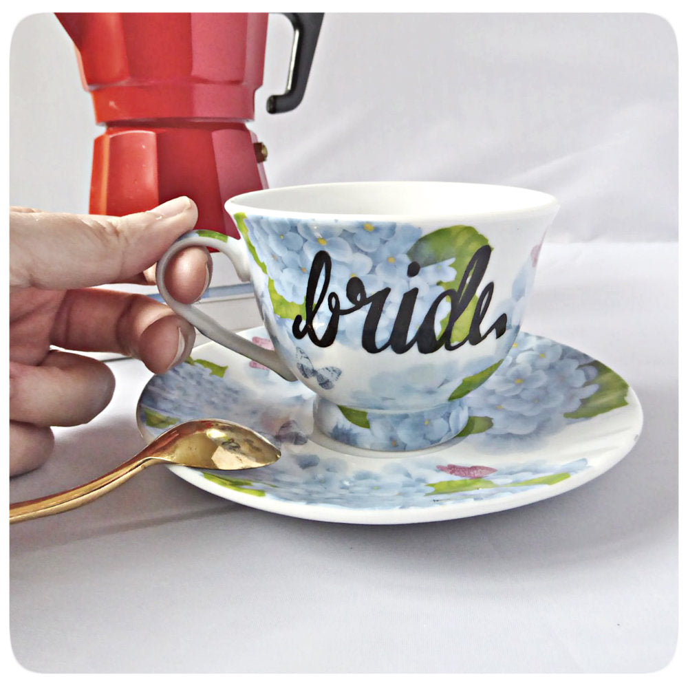 Bride Tea Cup and Saucer Coffee Cup