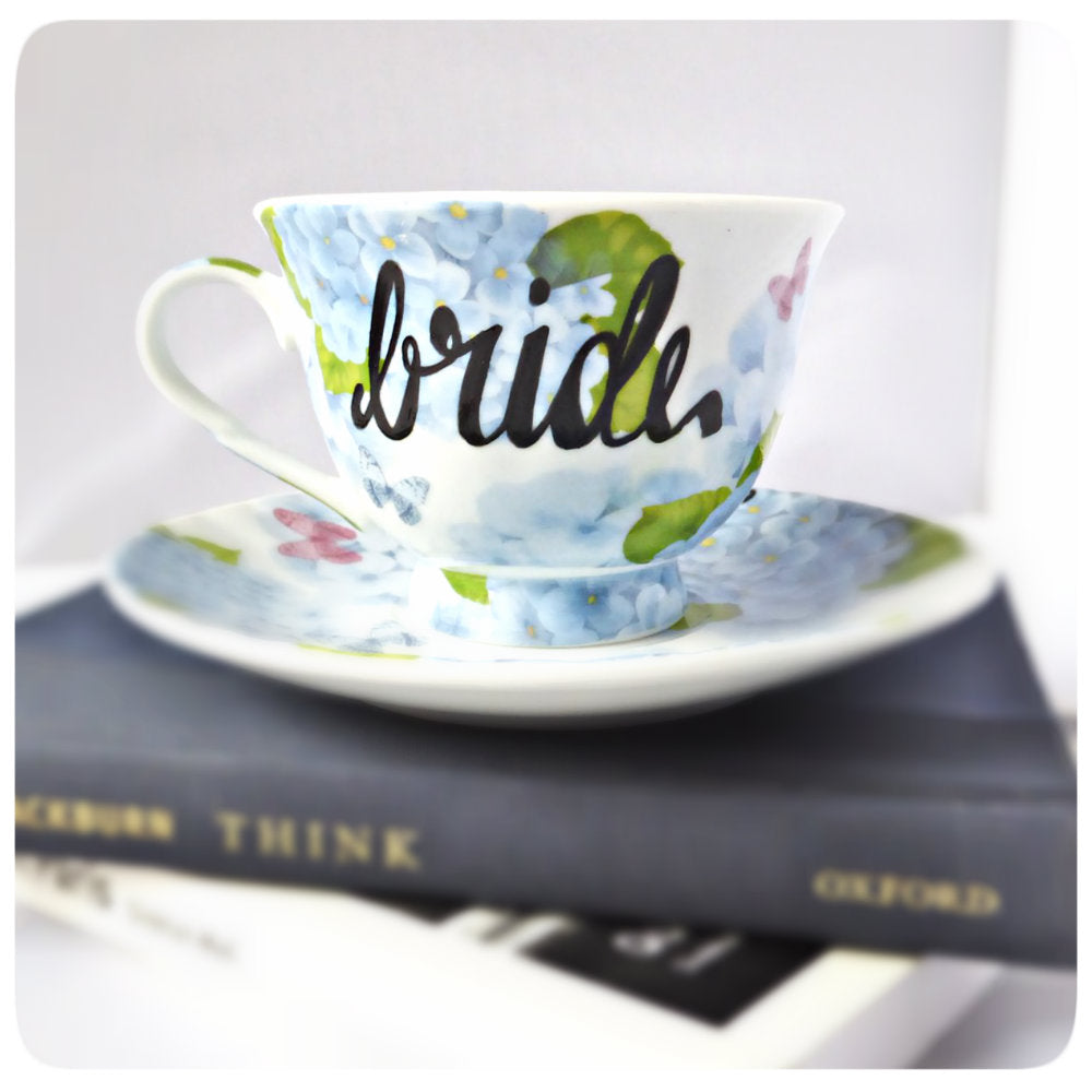 Bridesmaid Tea Cup Gift Bridal Party Shower Saucer