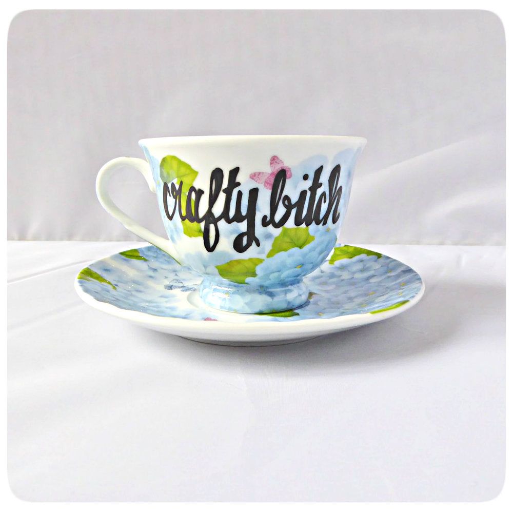 Funny Coffee Cup and Saucer Craft Bitch