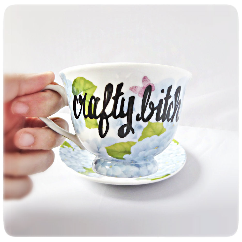 Funny Bridesmaid Tea Cup Gift Bride Crafty Bitch