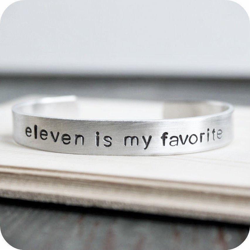 Eleven Is My Favorite Doctor Who Bracelet