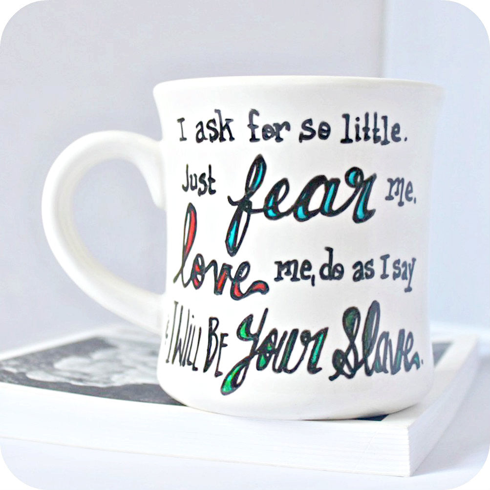 Love Quote David Bowie Labyrinth Hand Painted Coffee Mug