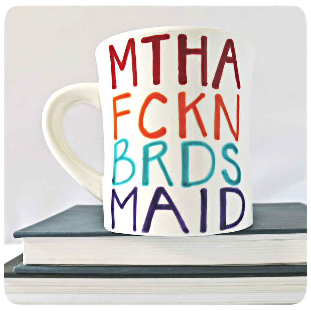 Rainbow Bridesmaid Mug Swear Words Gift