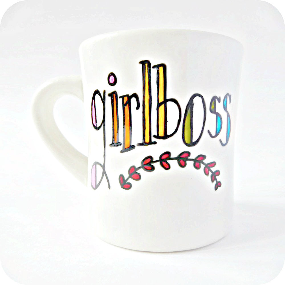Girlboss Motivational Coffee Mug for Women