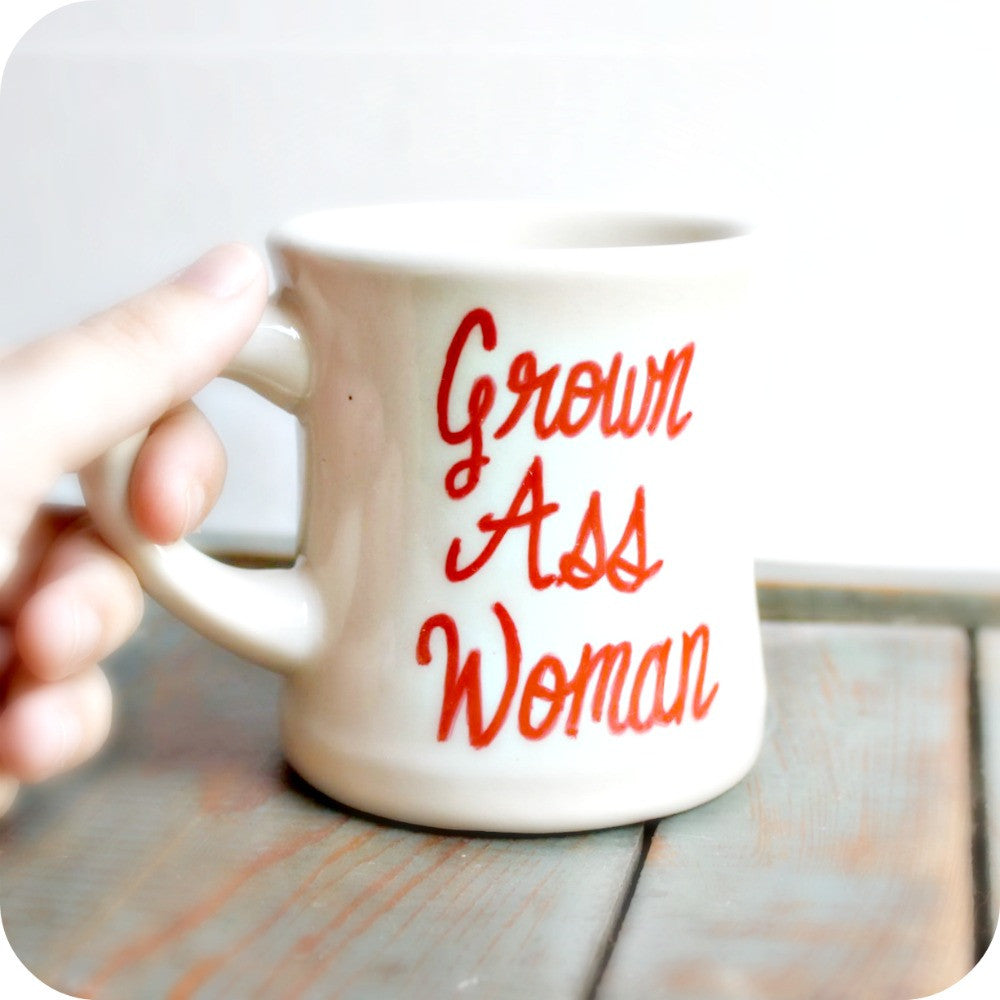Funny Mug for Coffee or Tea Personalized Grown Ass Woman