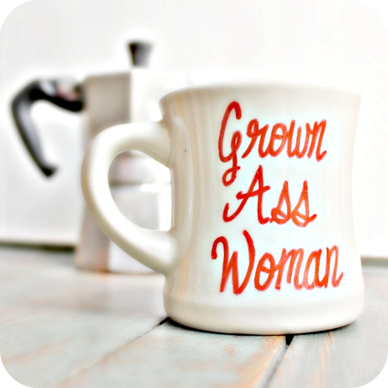 Funny Coffee Mug Grown Ass Woman Gift for Her