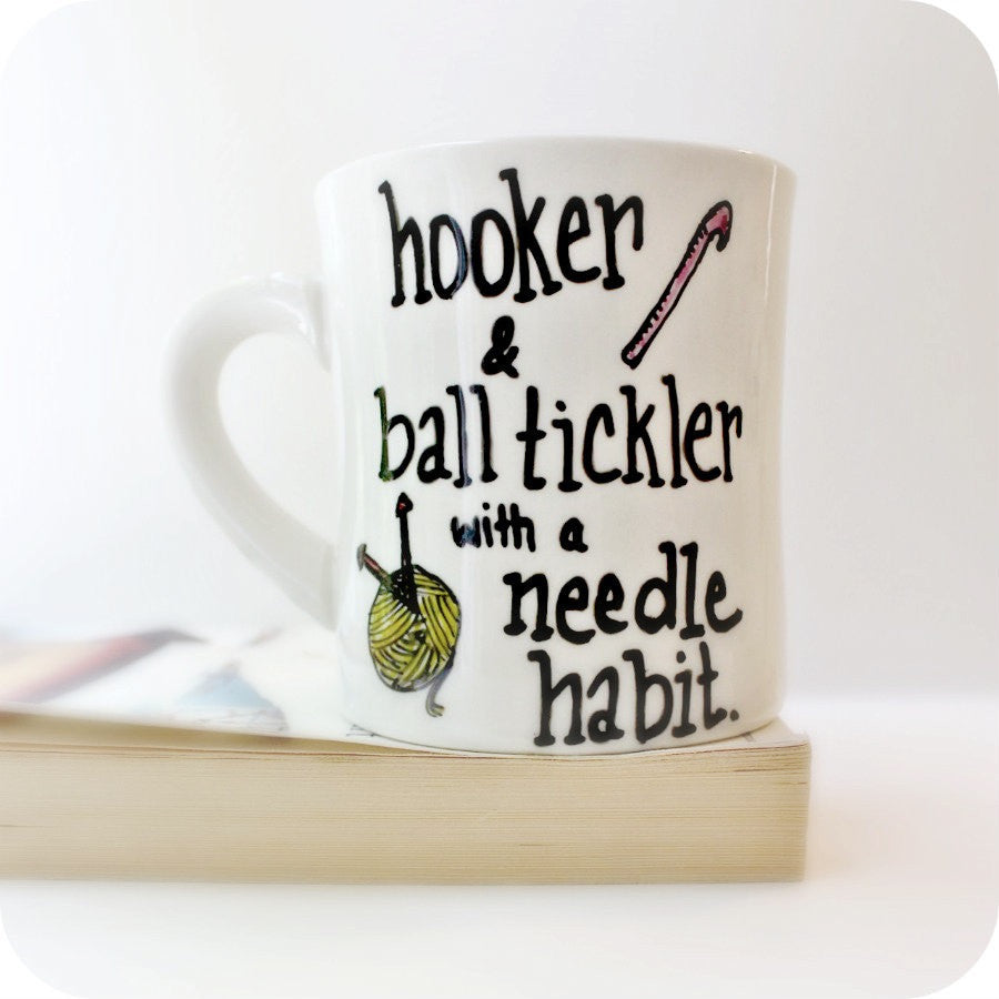 Funny Coffee Mug for Yarn Knit Crochet Embroidery Gift