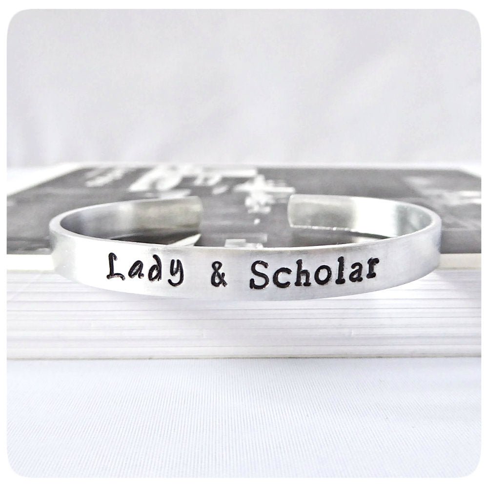 Lady And Scholar Funny Best Friend Jewelry Academic