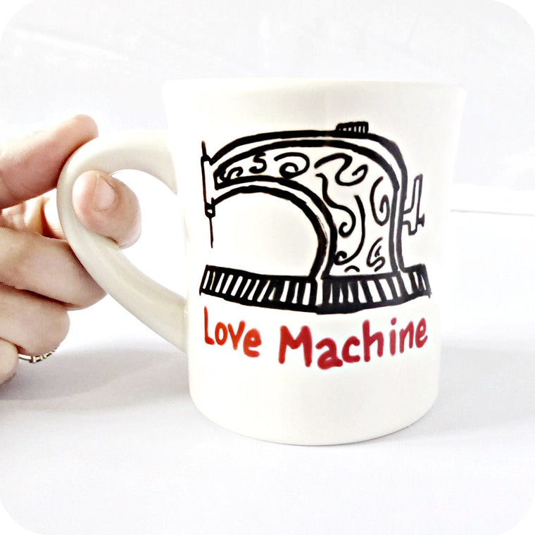 Funny Mug Love Machine Sewing Tailor Designer