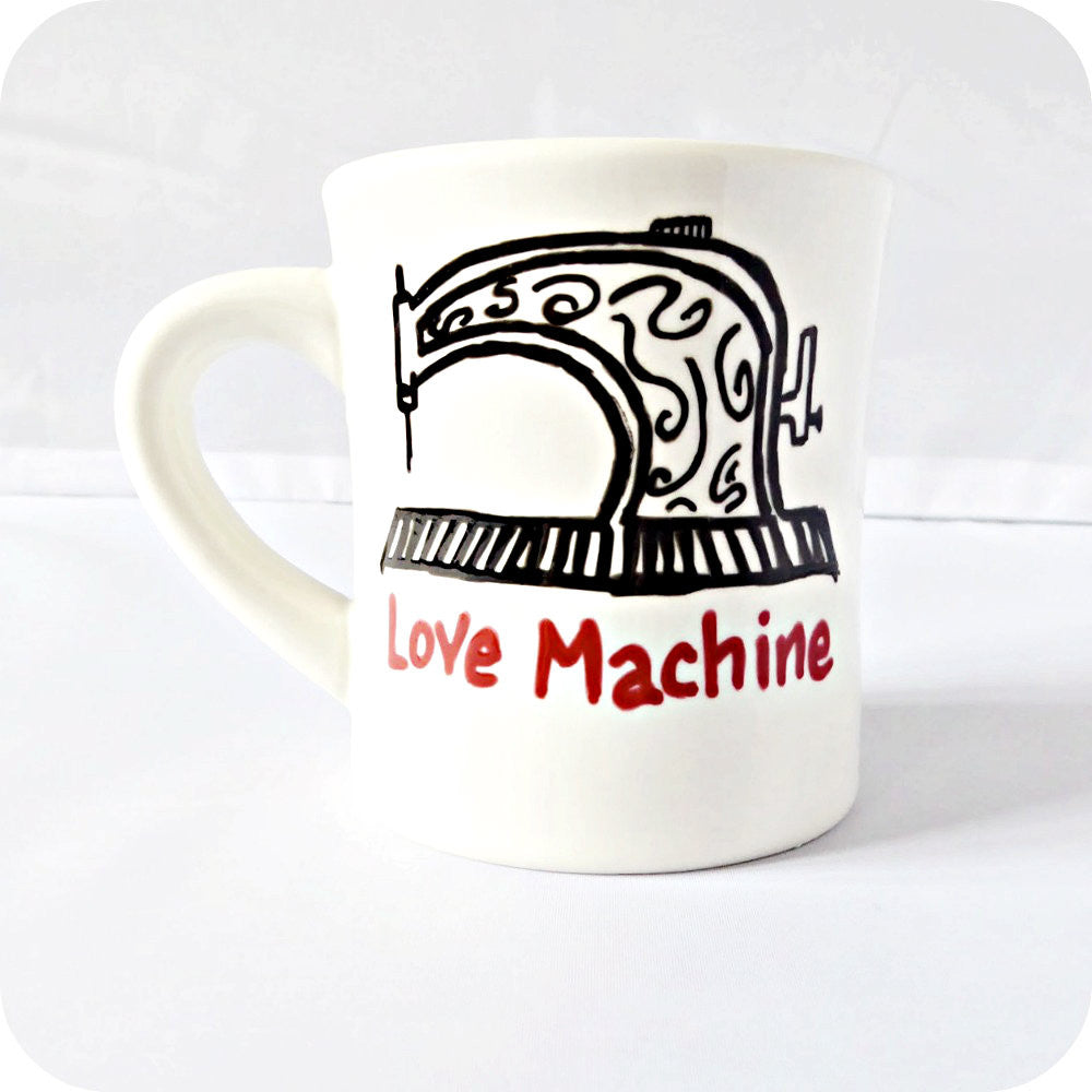 Funny Mug Gift for Her Sewing Machine Love Unique