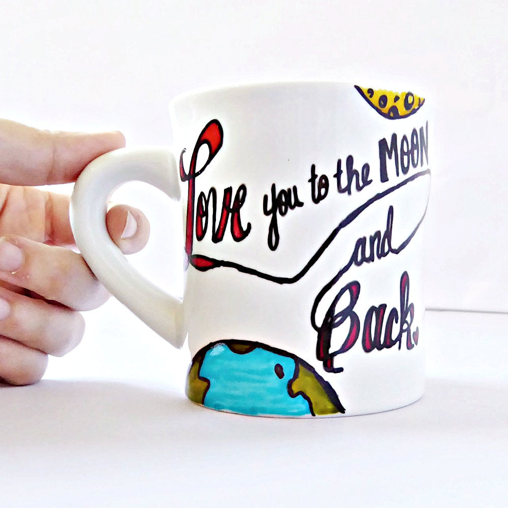 Personalized Love You to the Moon and Back Coffee Mug