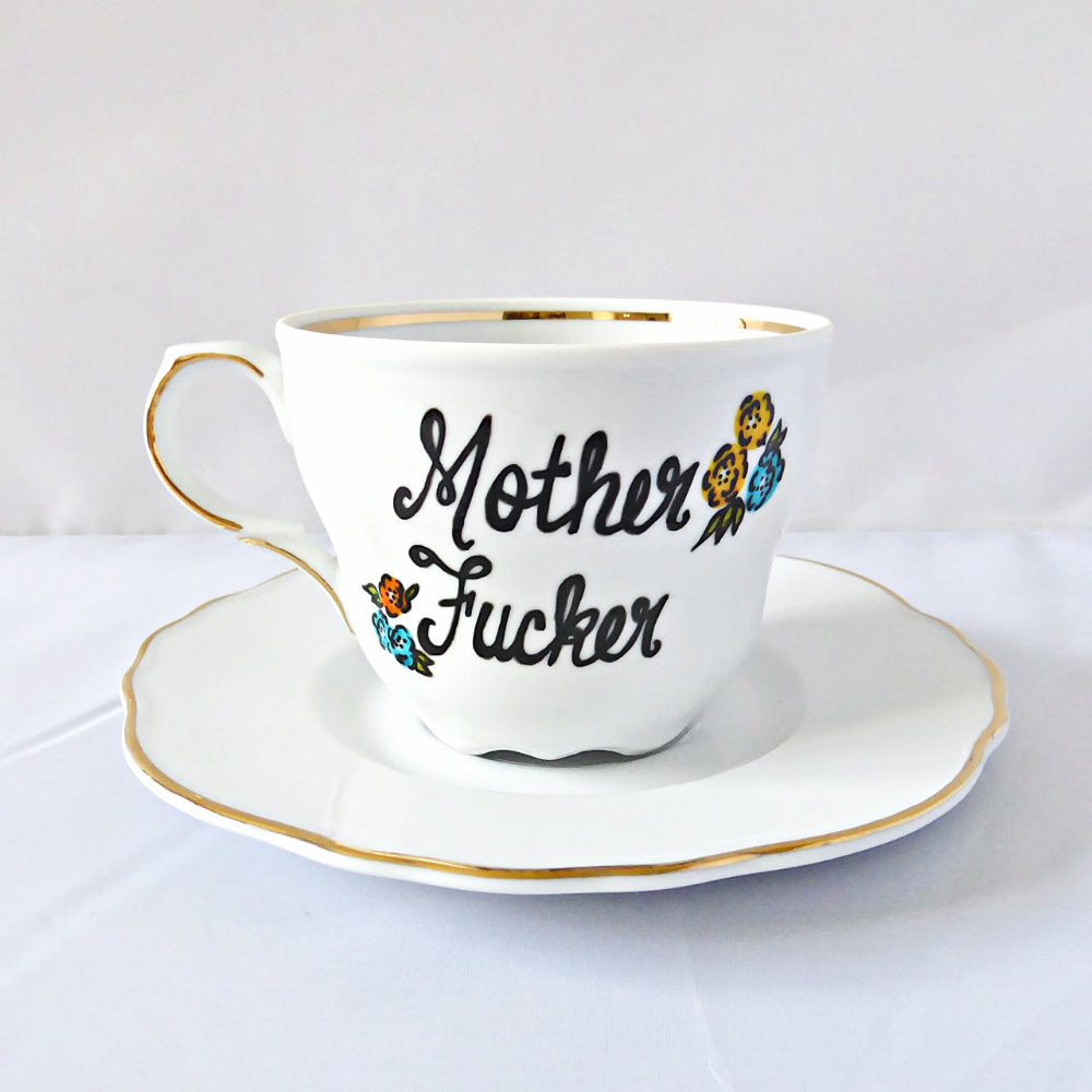 Funny Bridesmaid Tea Cup Gift Bride Motherfucker Profanity
