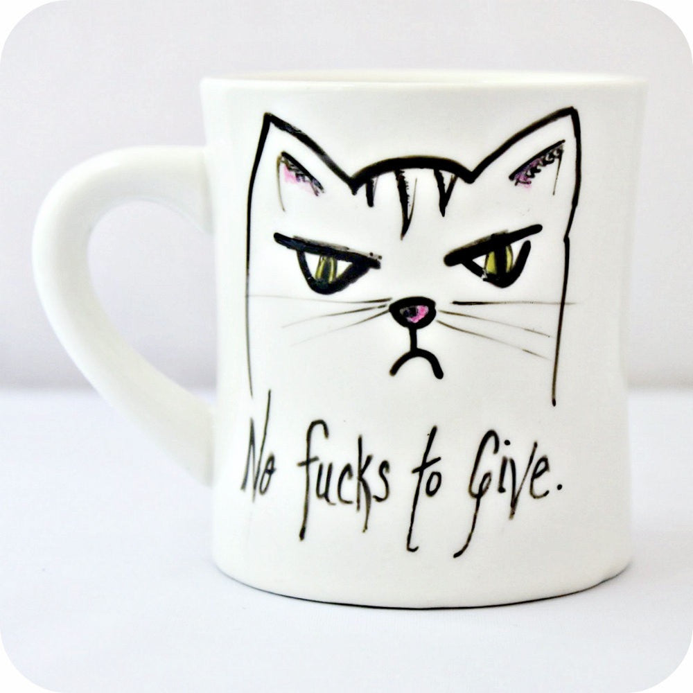 No Fucks To Give Cat Mug