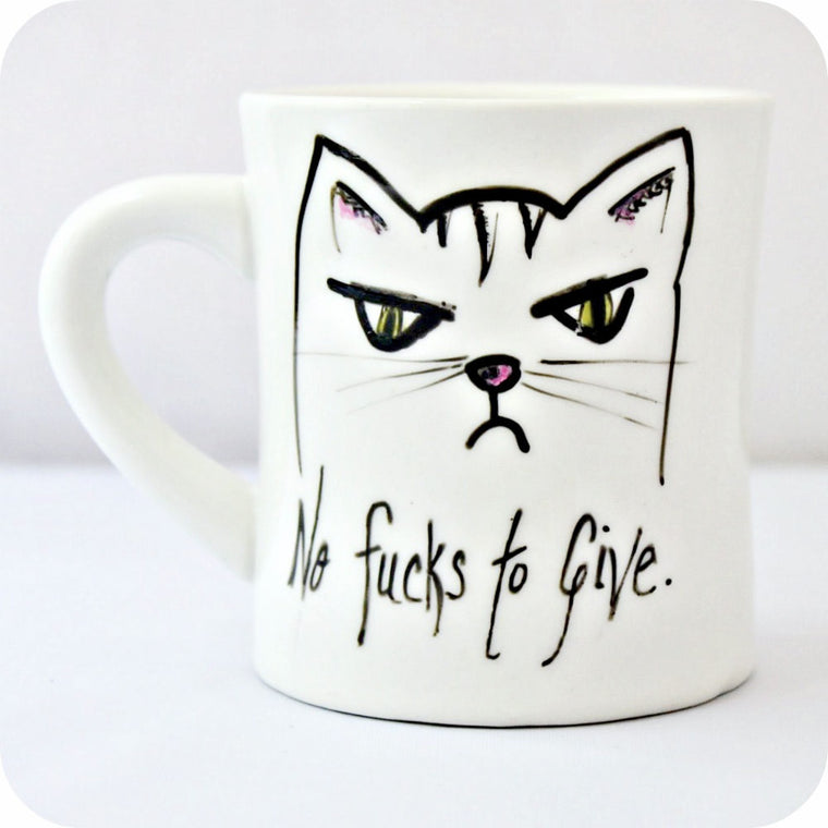No Fucks to Give Cat / Mug