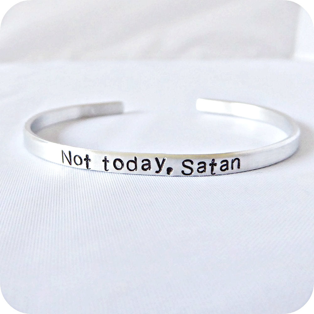 Not Today Satan Sarcastic Jewelry Funny Best Friend Gift