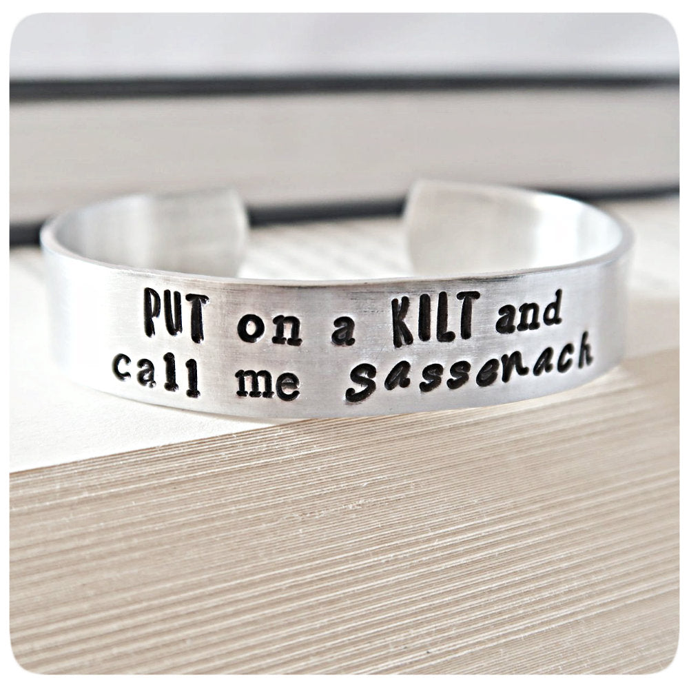 Kilt Sassenach Scottish Gift Jewelry Outlander Cuff Bracelet