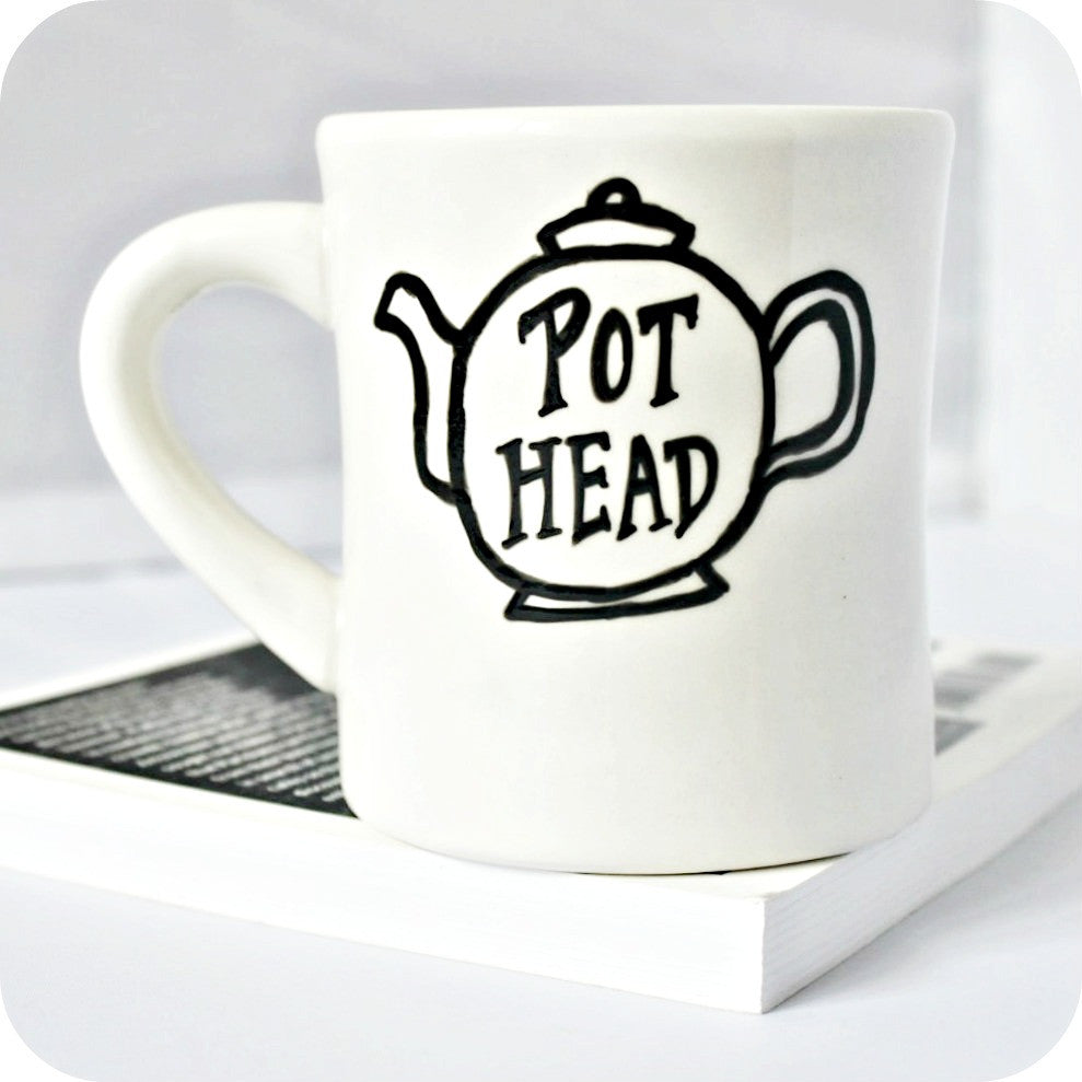 Pot Head Funny Mug Gift for Tea Drinker