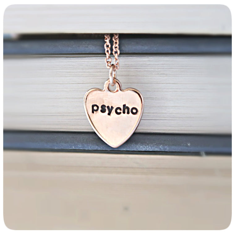 Psycho Rose Gold Dainty Minimalist Necklace for Layering