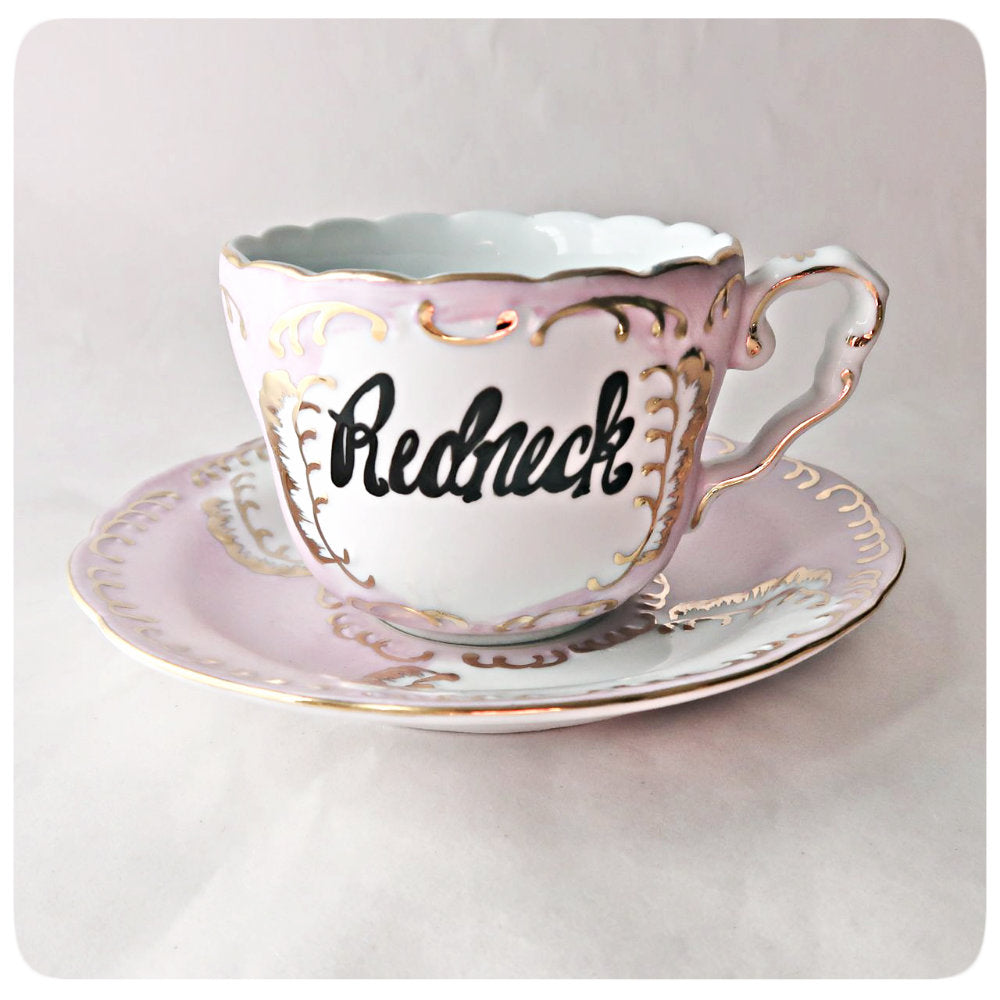 Unique Bridesmaid Tea Cup Saucer Coffee Hand Painted Lettered