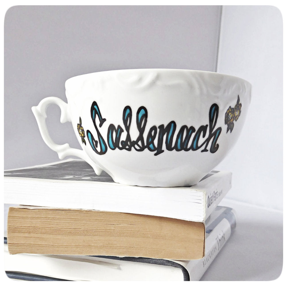 Outlander Gift Sassenach Coffee Cup and Saucer