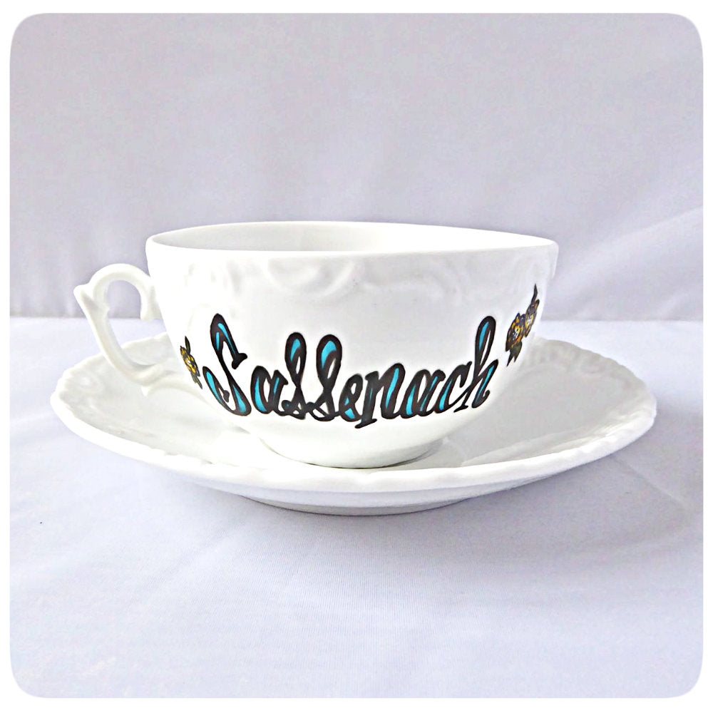 Funny Outlander Gift Tea Cup and Saucer Sassenach