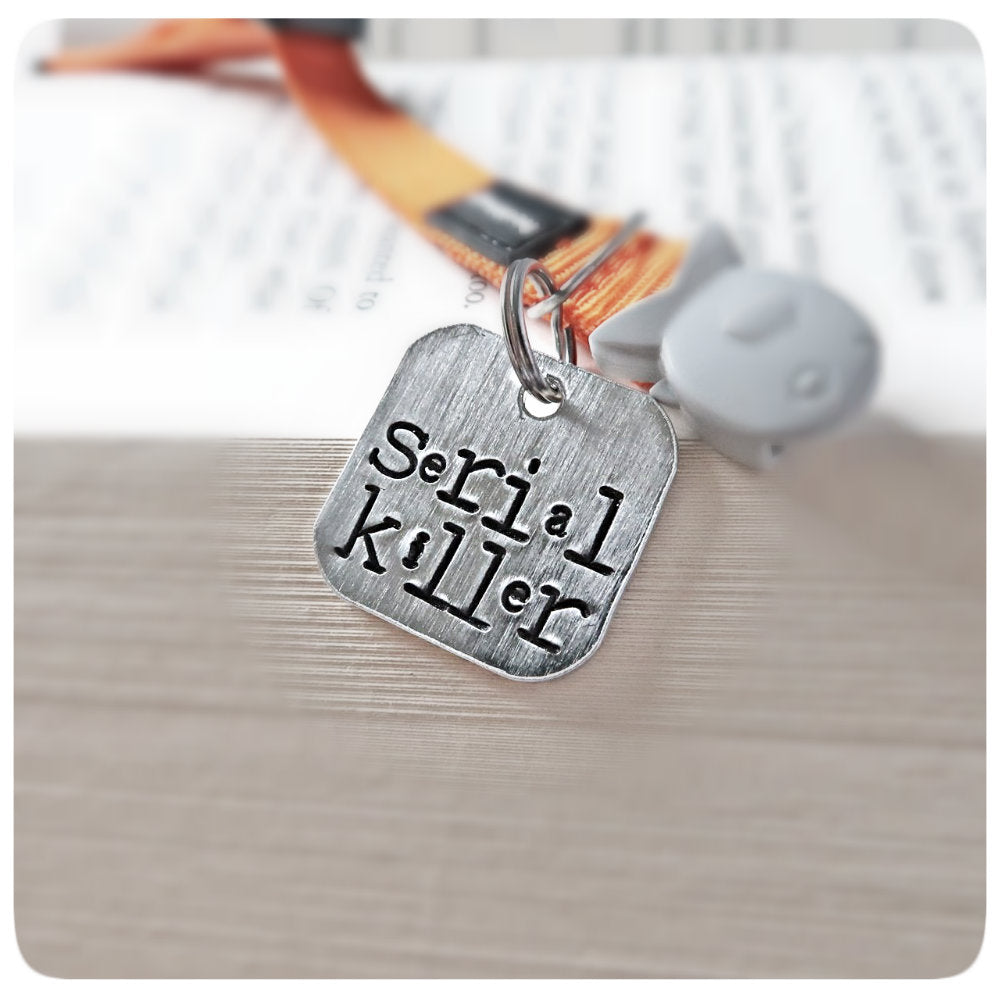 Serial Killer Funny Personalized Cat Id Tag