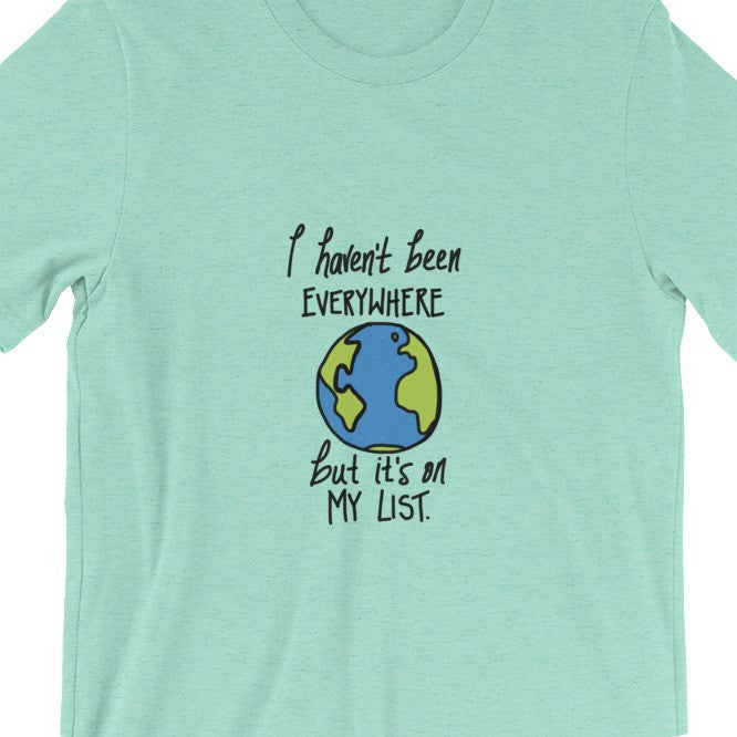 Mint Green Travel T-Shirt Mens Womens Sontag Quote