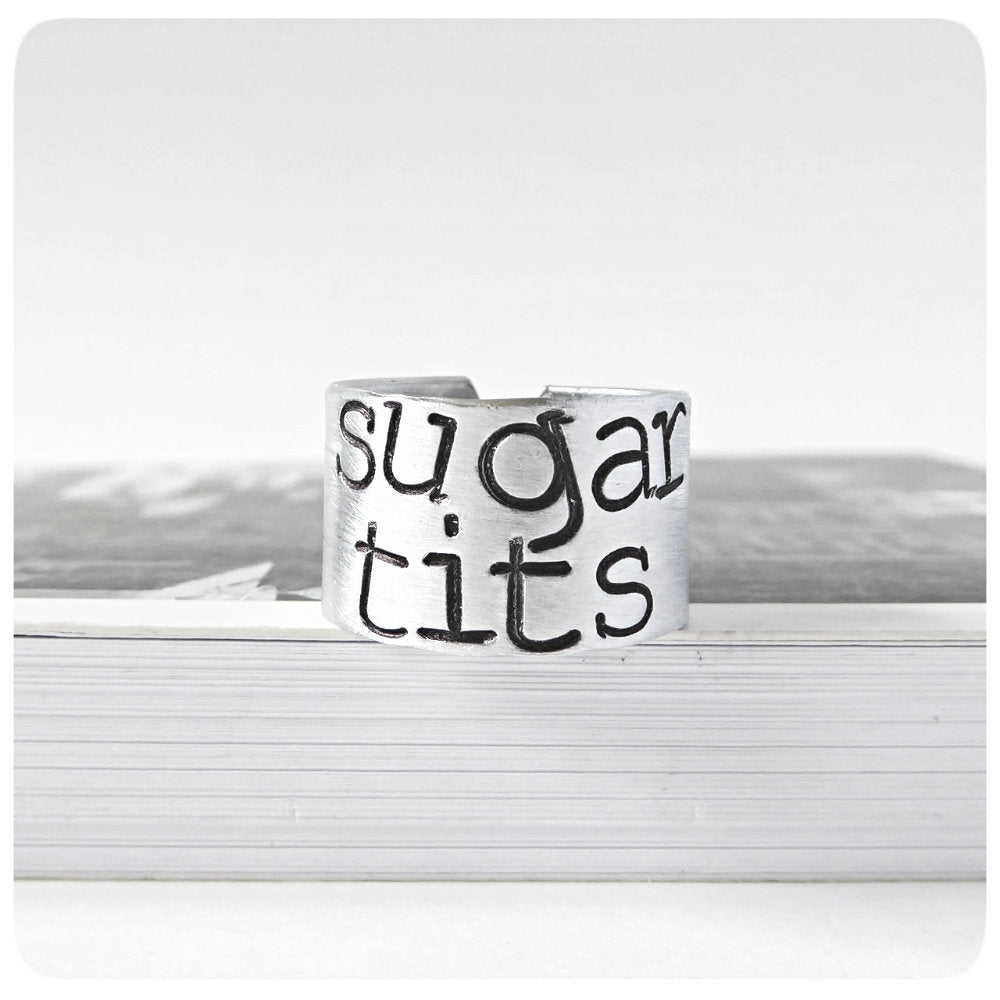 Sugartits Funny Ring for Her Women Naughty Sexy Gift Jewelry