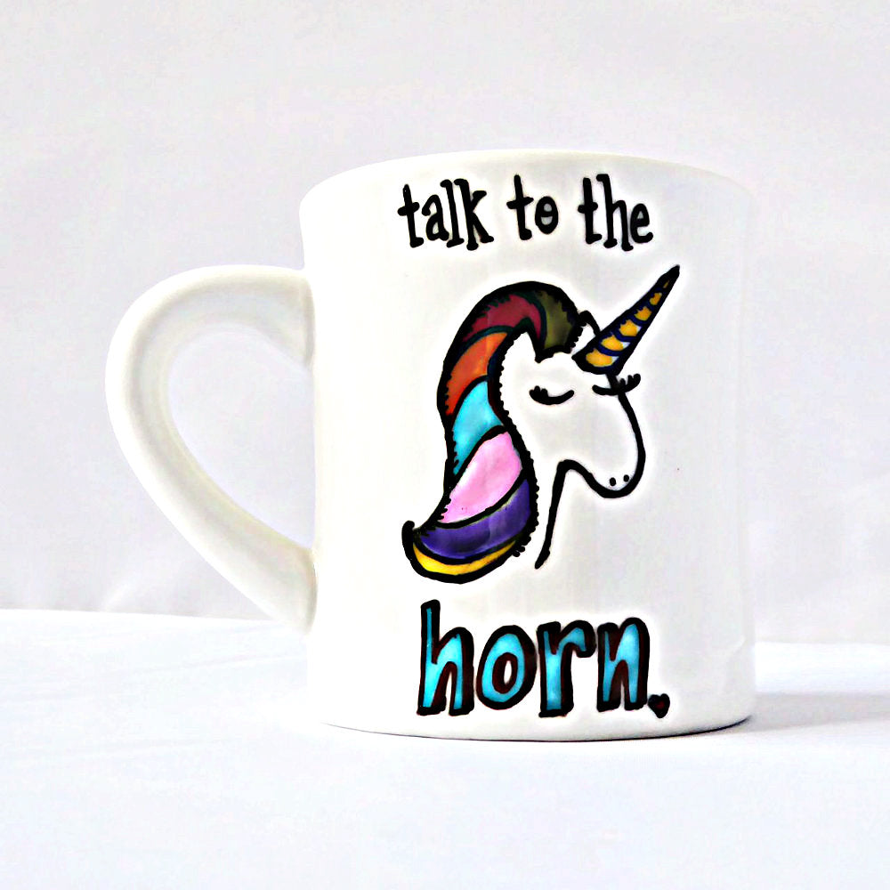 Funny Rainbow Unicorn Diner Coffee Mug