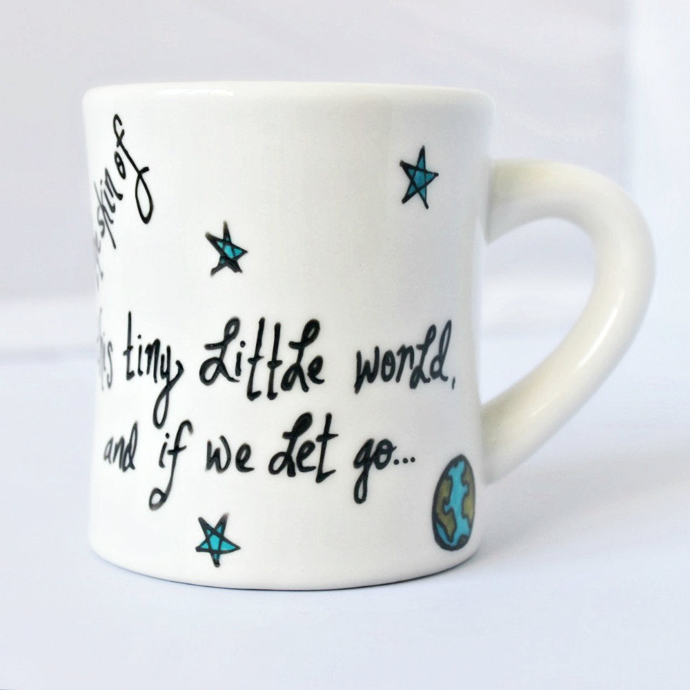 Unique Doctor Who Coffee Mug Ninth Doctor Space Moon Stars