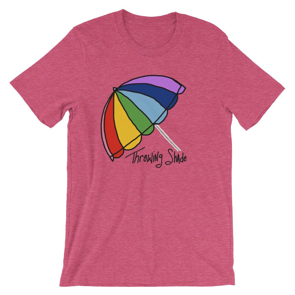 Funny Red Rainbow Umbrella Snarky T-Shirt Unisex