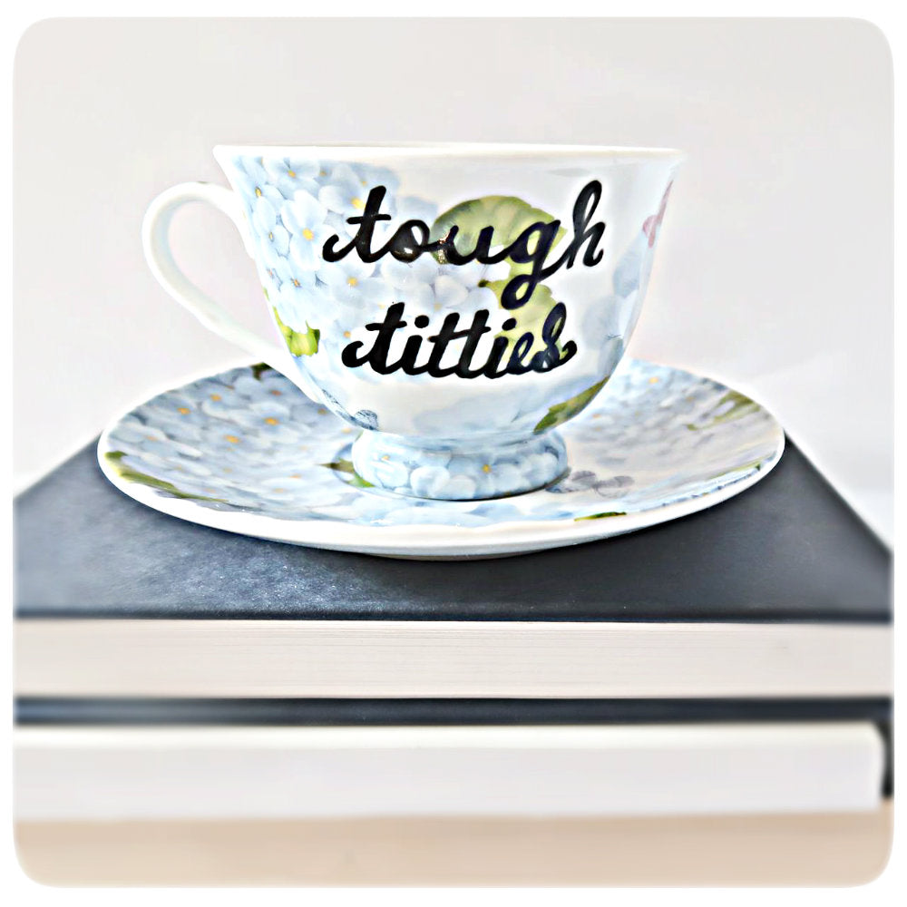Funny Bridesmaid Tea Cup Gift Bride Tough Titties