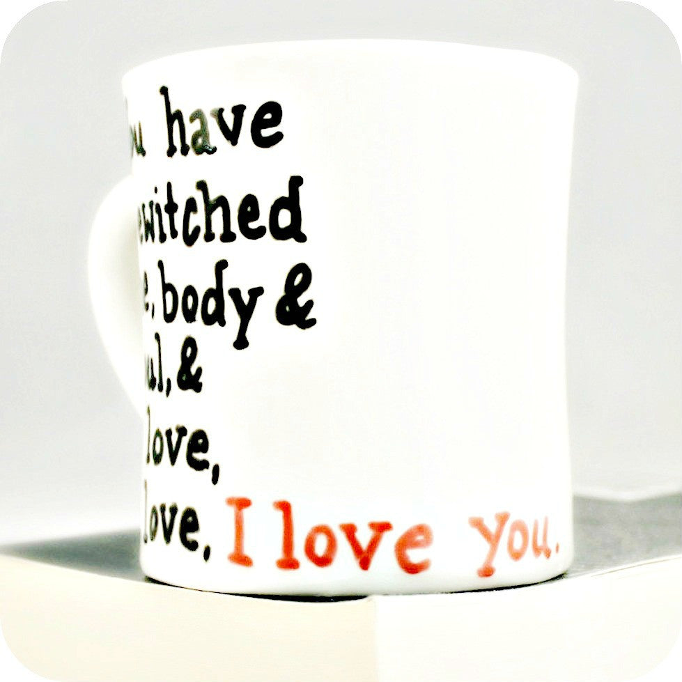 Darcy Proposal Coffee Mug Pride and Prejudice Quote