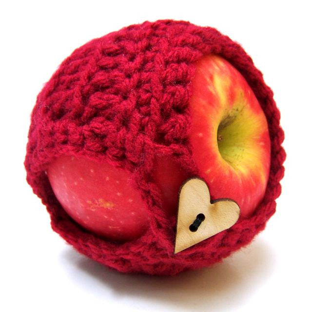 Red Crochet Apple Cozy