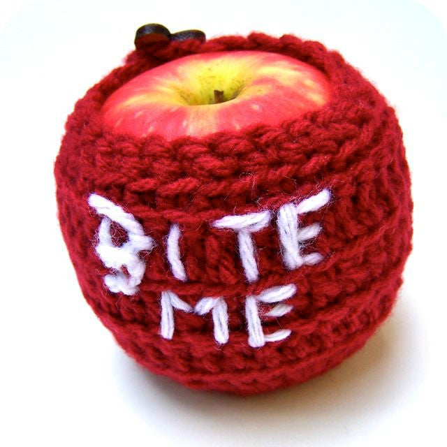 Bite Me Funny Apple Cozy