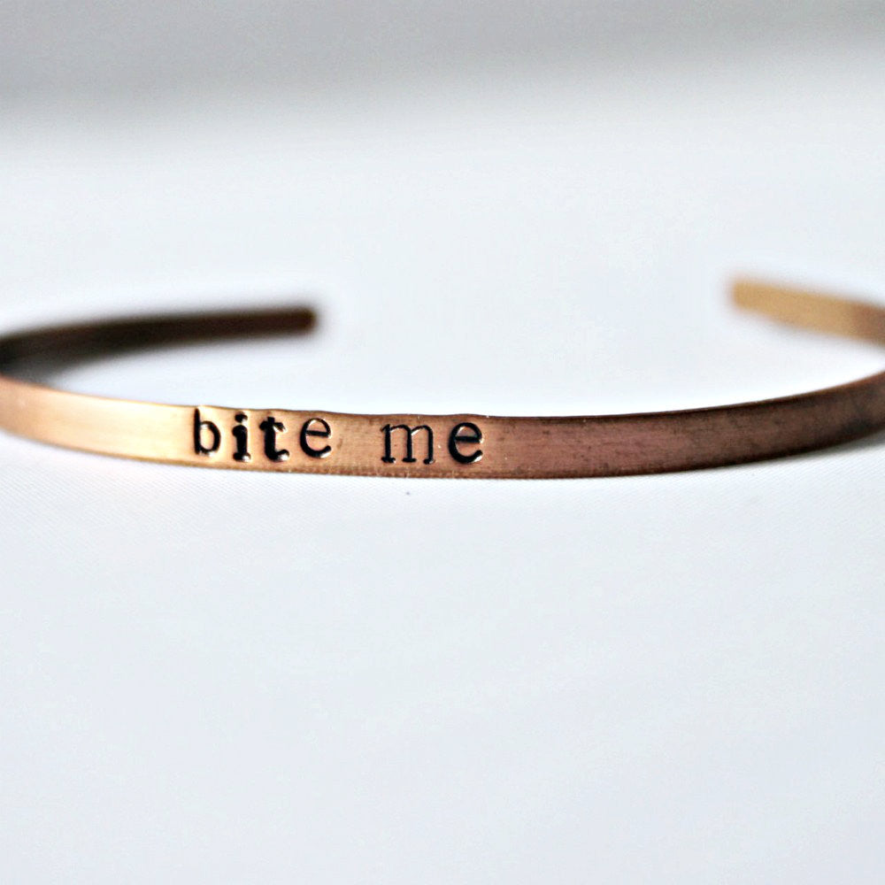 Snarky Copper Cuff Funny Jewelry