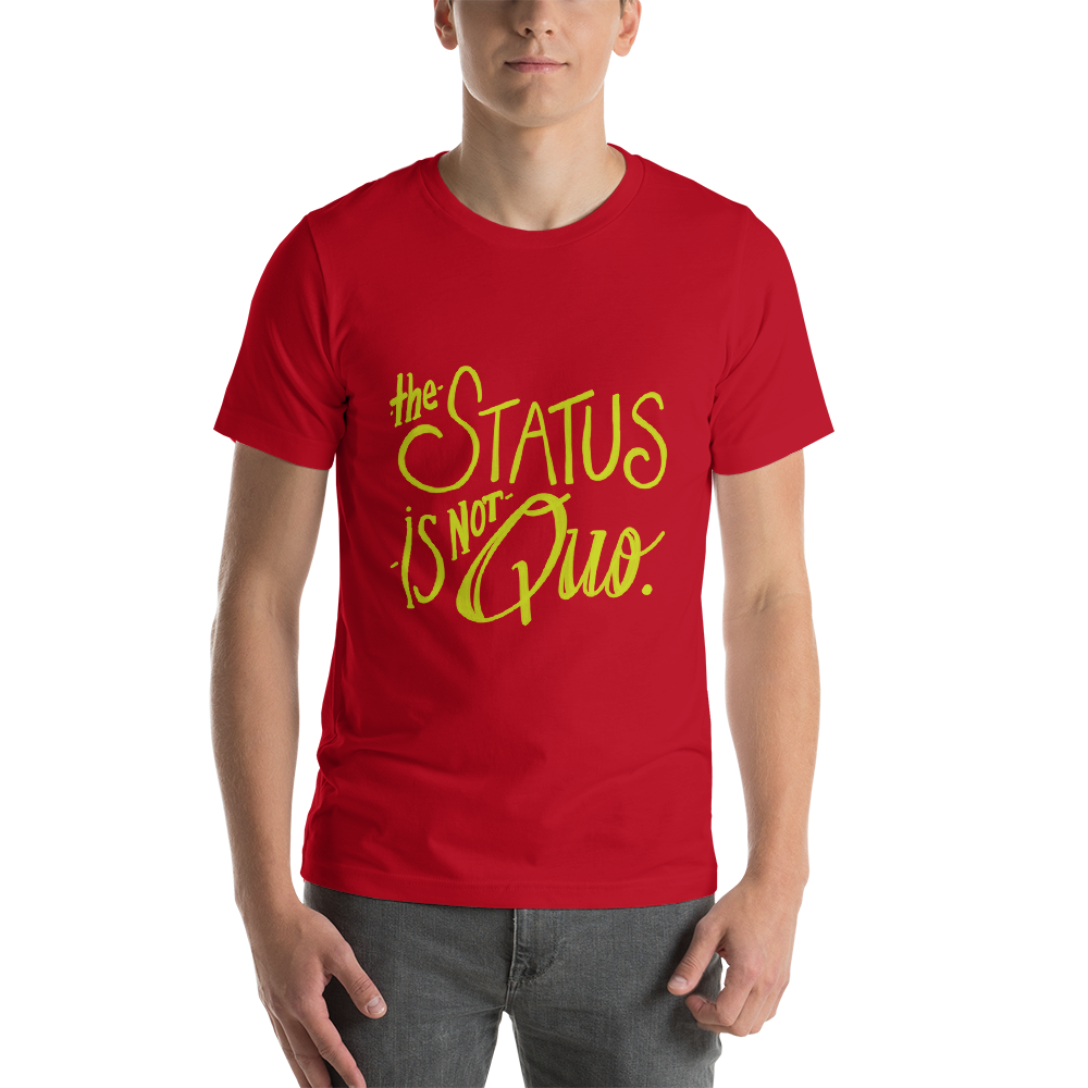 Dr. Horrible's Sing-Along Blog Funny tee shirt status is not quo