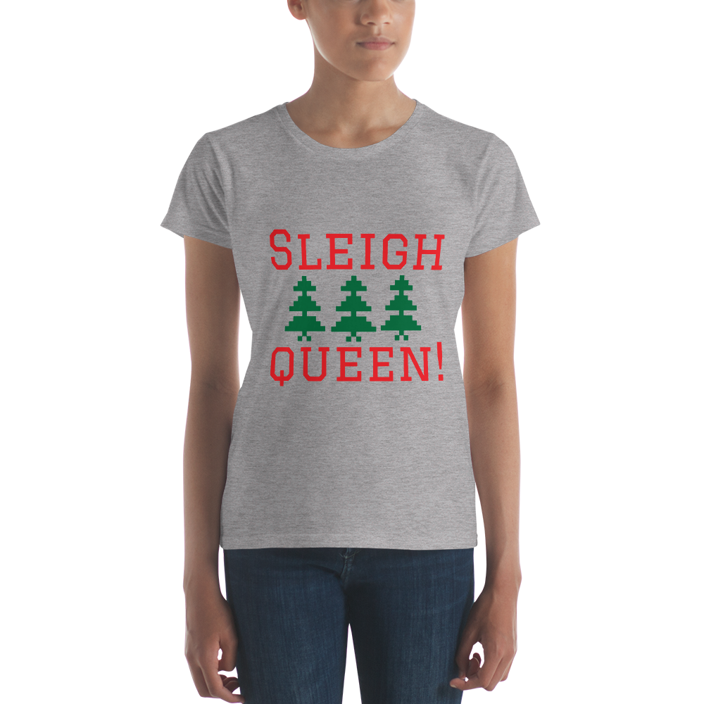 Funny Christmas Gift Clothing Sleigh Slay Queen