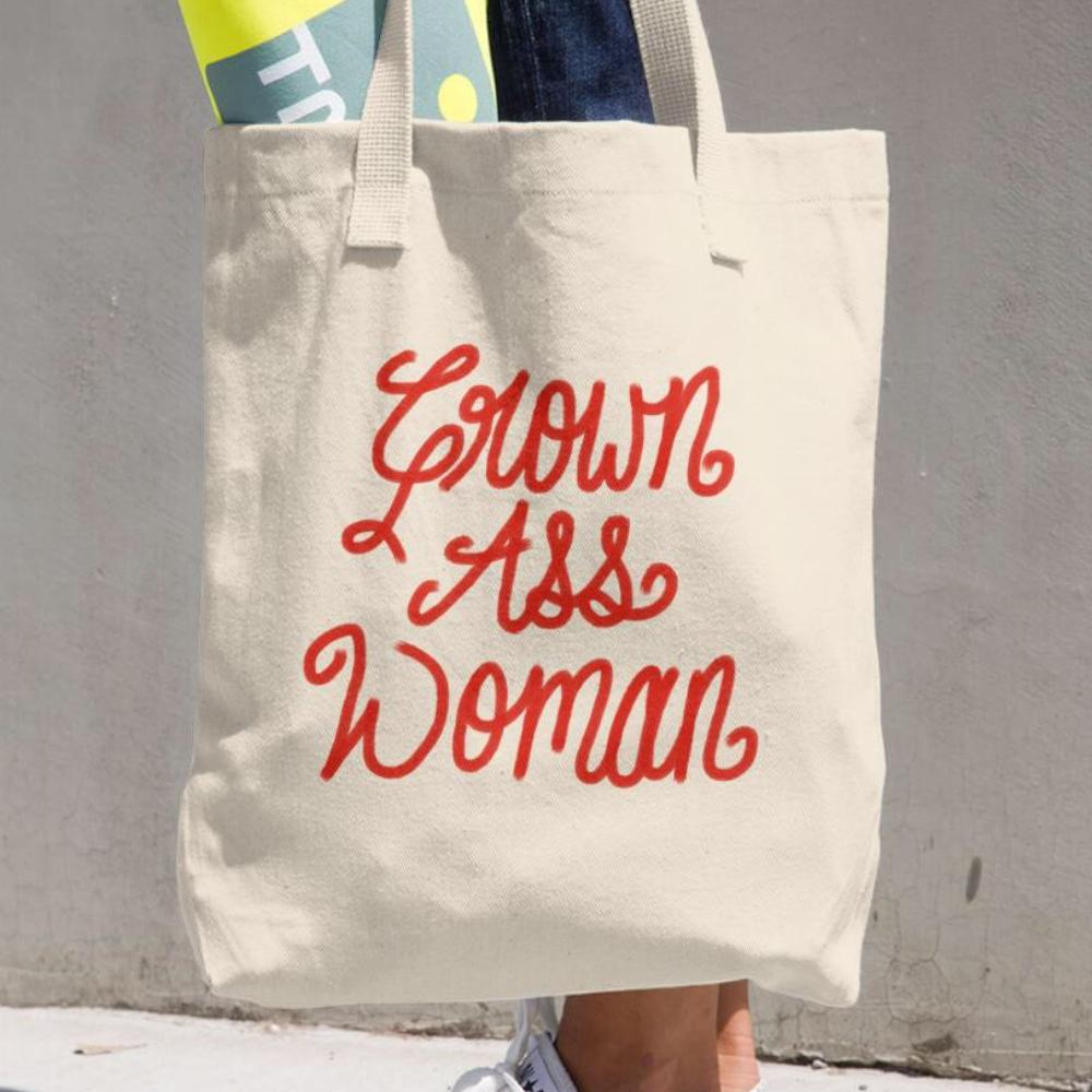 Grown Ass Woman Funny Tote Bag Engagement Pregnancy Graduation